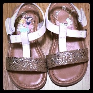 Other - Gold and white kids sandals